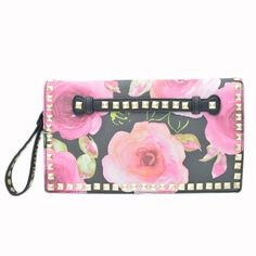 Black Rose Studded Handbag -   -  Sophie May Clothing  - 1