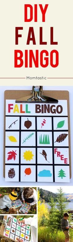 DIY fall bingo for kids