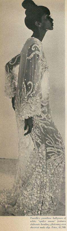 1966 Revealing Fashions, Fashion Fair, Beaded Ballgown by Travilla