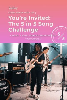 Write 5 songs in 5 days with us! This songwriting challenge is the quickest way to kick your inner critic OUT of the writing room. Presented by SongFancy #SongwritingTips #Songwriter #SingerSongwriter #musicmarketingtips #songfancy #songwritingchallenge