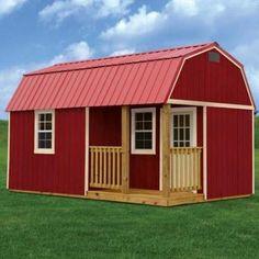 Derksen Painted Side Lofted Barn Cabin