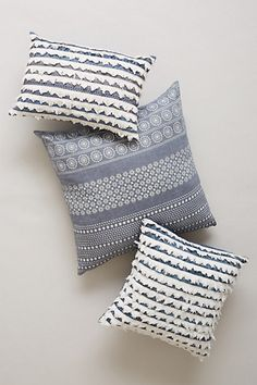 tiered fringe pillow / anthropologie
