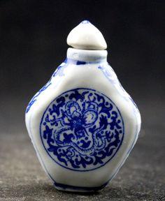 Oriental Vintage Handwork Porcelain rare  Snuff Bottles  Free shipping