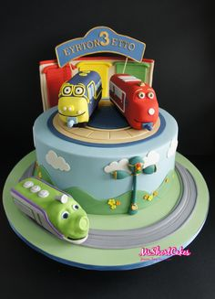 Els 1st birthday Chuggington cake Chuggington birthday cake