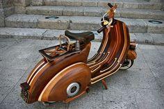 CJWHO ™ (Wooden Vespa Scooter by Carlos Alberto | via ...)