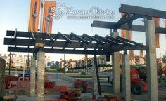 Montaje de estructura de madera a 2 aguas en vigas laminadas con tratamiento para exterior by navarrolivier.com