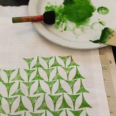 Textiltrycker! #textiltryck #grön #green #print