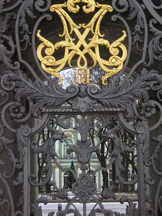 Gates to the Winter Palace, St. Petersburg Russia