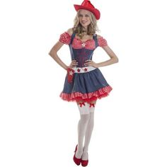 Miss Rodeo Women's Adult Halloween Dress Up / Role Play Costume 1XL