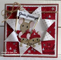Carte Clo et Antho Christmas Stationery, Christmas Card Crafts, 3d Christmas, Christmas Cards To Make, Xmas Cards, Company Christmas Cards, Marianne Design Cards, 3d Cards, Handmade Birthday Cards