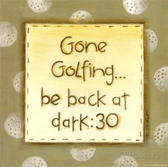 Gone Golfing Prints by Karen Tribett at AllPosters.com