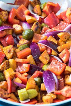 Boerenpannetje van zoete aardappel