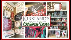 It's never too soon to start shopping for Christmas decor. In today's video, I'm sharing all of the Christmas decor that Kirklands has out in their stores fo. Merry Christmas Sign, Christmas Balls, Christmas Ideas, Kirklands Christmas, Merry Mail, Hobby Lobby Christmas, Vintage Candy, Home Decor Store, Home Decor Trends