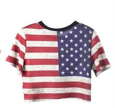American Flag Crop Top Tee #merica