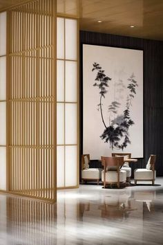 Modern living design, inspired by the Zen styleModern home design Inspired by Zen Style Modern Chinese Interior, Interior Design Pictures, Japanese Interior Design, Conception Zen, Le Style Zen, Design Scandinavian, Zen Interiors, Japan Interior, American Interior