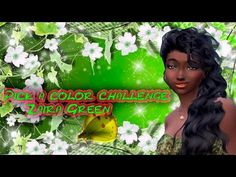 Pick a color challenge /Zaira Green / Sims 4  -