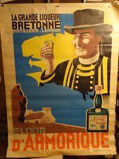 AFFICHE ANCIENNE LIQUEUR BRETAGNE ARMORIQUE Old Fashion Image, Liqueur, Brittany, Vintage Posters, Baseball Cards, Tee Shirt, Photos, France, Food