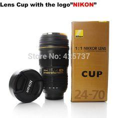 Taza de acero inoxidable en diseño Cámara Nikon. - Taza de acero inoxidable en diseño Cámara Nikon. - CellsPoint - 1