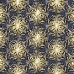 """""""Fire circle is a fantastic geometric wallpaper. This stunning modern wallpaper blue and yellow features an abstract geometric starburst pattern inspired by fireworks. This simple design would really make a statement on all walls. Modern Wallpaper, Geometric Wallpaper, Home Wallpaper, All Wall, Fireworks, Simple Designs, Graham, Wallpapers, Artists"""