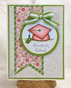 Cute feminine Congrats Grad, Enchanted Ladybug Creations