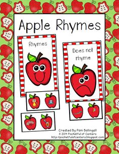A fun apple themed rhyming activity! This is great for a work station or circle time activity!