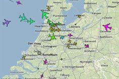 Vluchtinformatie op zwart dus weinig kans om vliegtuigen te spotten voor en na de NSS2014!