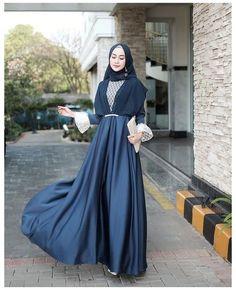 Dress Brokat Muslim, Muslim Dress, Kebaya Muslim, Modern Hijab Fashion, Muslim Women Fashion, Hijab Fashion Inspiration, Dress Brukat, Kebaya Dress, Dress Outfits