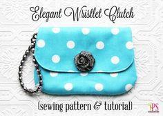 Elegant Wristlet Clutch Bag Sewing Pattern and Tutorial