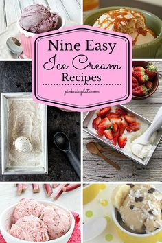 It is definitely summer here and it is hot hot hot so all I ever want to eat when its hot is ICE CREAM! Yes I love love love ice cream! So today I have some of the most delectable ice cream recipes! Nine of them, Nine Easy Ice Cream Recipes!