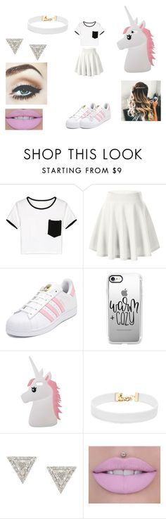 """ano novo ally"" by analuizam-ferreira-rbd on Polyvore featuring moda, WithChic, adidas, Casetify, Miss Selfridge, Vanessa Mooney e Lizzie Mandler"