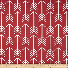 Premier Prints Arrow Macon Timberwolf Red from @fabricdotcom  Screen printed on cotton duck; this versatile medium weight fabric is perfect for window accents (draperies, valances, curtains and swags), accent pillows, duvet covers and upholstery. Create handbags, tote bags, aprons and more. *Use cold water and mild detergent (Woolite). Drying is NOT recommended - Air Dry Only - Do not Dry Clean. Colors include white and red.