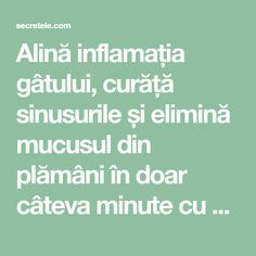 Alină inflamația gâtului, curăță sinusurile și elimină mucusul din plămâni în doar câteva minute cu un amestec de vis! - Secretele.com Good To Know, Health Fitness, Food And Drink, Healthy, David, Display, Baby, Travel, Medicine