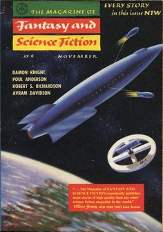 The Magazine of Fantasy and Science Fiction, November 1957. Cover by Morris Scott Dollens