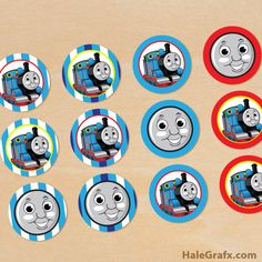 thomas train cupcake toppers FREE Printable Thomas the Tank Engine Cupcake Toppers