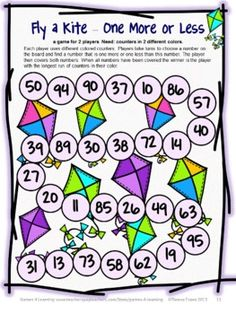 Math Board Game for Spring from Games 4 Learning. $