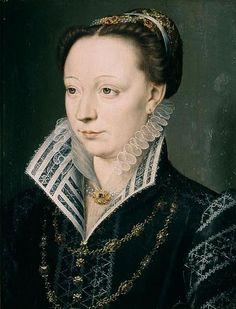 François Clouet Portrait de Claude Catherine de Clermont. 1571- Elle parlait couramment l'italien, savait le latin et le grec, connaissait plusieurs autres langues étrangères. En 1573 lorsque les ambassadeurs de Pologne vinrent demander au duc d'Anjou, futur Henri III pour roi, elle leur répondit publiquement en latin pour la reine-mère, et sondiscours l'emporta sur ceux du chancelier René de Birague et du comte Philippe Hurault de Cheverny, qui répondaient pour Charles IX et le duc d'Anjou.