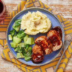 Recipe: Glazed Pork Meatloaf with Sesame Mashed Potatoes & Bok Choy - Blue Apron