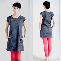 SUMMER  SALE 15%, A line black stone washed cotton denim asymmetrical mini dress by jenfashion on Etsy https://www.etsy.com/listing/84935725/summer-sale-15-a-line-black-stone-washed