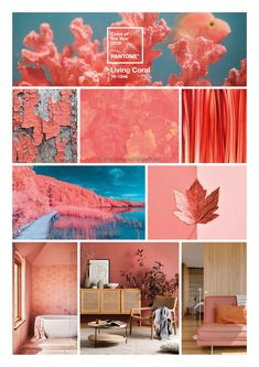 """A New Year can only mean one thing in the Interior Design industry. To kickstart the year, the new PANTONE colour of the year has been announced as Living Coral. """"An animating and life-affirming coral hue with… Luxury Homes Interior, Home Interior Design, Colour Schemes, Color Trends, Design Trends, Coral Home Decor, Coral Design, Palette, Elegant Homes"""
