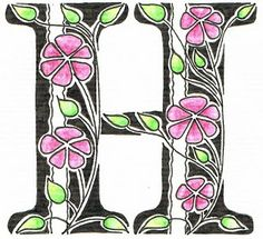 Creative Doodling with Judy West: Stripes & Flowers Alphabet