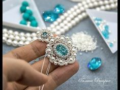 #МК - Серьги из бусин и бисера | #Tutorial - Earrings of seed beads and beads - YouTube