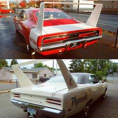 A shot of the two wing cars that Graveyard Carz has restored in the last 3 years. What do you all like more, the Daytona or Superbird? #graveyardcarz #gyc #dodge #plymouth #classicsdaily #chrysler #mopar #moparornocar #charger #challenger #discoveryvelocity #superbird #gtx #superbee #cuda #hemi #440sixpack #bigblock #classicmuscle #restoration #426hemi #roadrunner #daytona #oem #duster #demon