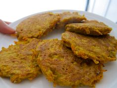 Carrot & Coconut Fritters (paleo). Made this for dinner with a salad- delicious! Even my younger brother liked these!