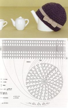 Luty Artes Crochet: Gorros e Chapéus em Crochê + Gráficos.