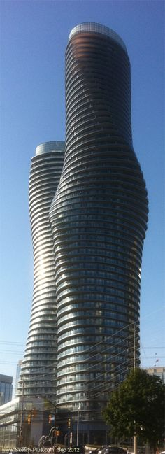 The Absolute Towers, Mississauga, Canada... Right-Front view.