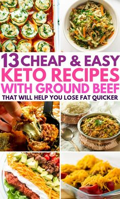 My family absolutely LOVES these keto recipes using ground beef. In fact, my kids beg me to make for dinner almost every night! These low carb recipes are so quick, easy and cheap to make, I just dump the ingredients into my slow cooker and set and forg Quick Weeknight Meals, Easy Meals, Simple Keto Meals, Low Carb Cheap Meals, Quick Meals For Dinner, Healthy Dinner Recipes For Weight Loss, Dinner Healthy, Healthy Soup, Healthy Fats