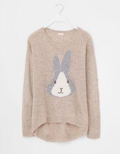Pullover mit Kaninchenmotiv