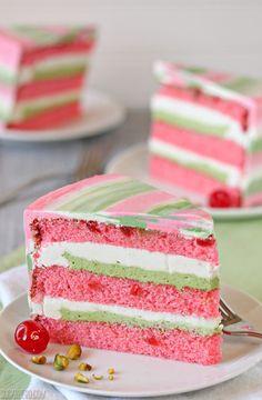 Spumoni Cake   From SugarHero.com