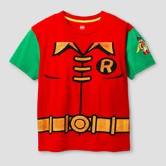 Boys' Lego Robin Costume T-Shirt - Red/GreenM, Boy's, Size: Medium
