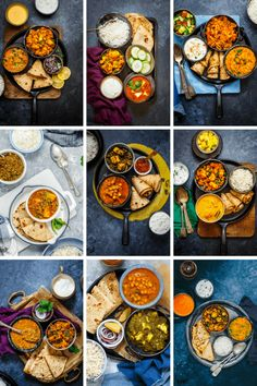 This post will leave you with classic 9 EVERYDAY INDIAN MEALS Ideas [ Vegetarian Indian Thali recipes ] that you can cook for your family through the week. Veg Recipes Video, Healthy Veg Recipes, Indian Food Recipes, Vegetarian Recipes, Cooking Recipes, Indian Food Menu, Indian Meal, Gourmet Cooking, Lunch Box Recipes